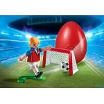Jucator De Fotbal Si Poarta
