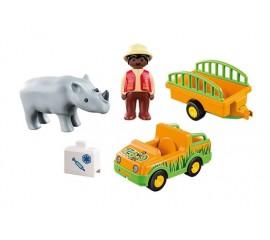 1.2.3 Masina Zoo Cu Rinocer