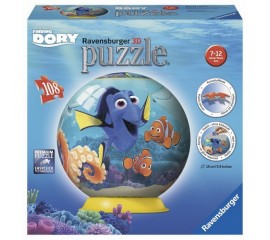 Puzzle 3D In cautarea lui Dory, 108 piese