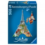 Puzzle Contur Turnul Eiffel, 960 piese