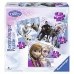 Puzzle Frozen Anna, Elsa si prietenii, 25/36/49 piese