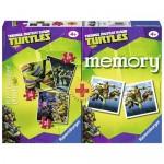 Puzzle + Joc Memory Ninja 3 buc in cutie 25/36/49 piese