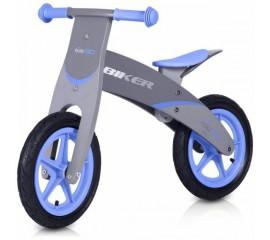 Bicicleta din lemn Biker Albastru - Easy Go