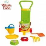 Carucior de tras cu set nisip cu 8 piese Winnie the Pooh