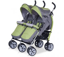 Carucior pentru gemeni Duo Comfort - Easy Go - Verde