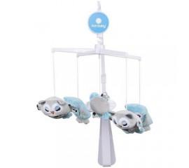 Carusel muzical Bufnita - Sun Baby - Albastru