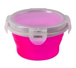 Castron pliabil din silicon 400 ml pentru 3m+ 1buc/set - Roz