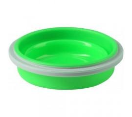 Castron pliabil din silicon 400 ml pentru 3m+ 1buc/set - Verde