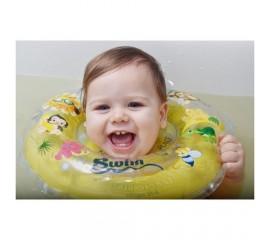 Colac de gat pentru bebelusi - SwimBee - Galben