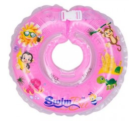 Colac de gat pentru bebelusi - SwimBee - Roz