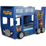 Patut in forma de masina Happy Bus Albastru