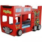 Patut in forma de masina Happy Bus Rosu