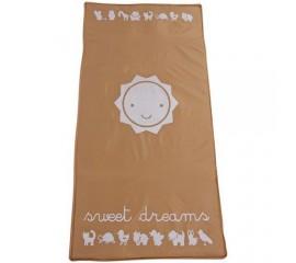 Patut Pliabil cu un nivel Sweet Dreams - Sun Baby - Maro