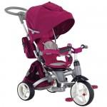 Tricicleta multifunctionala Little Tiger - Sun Baby - Visiniu