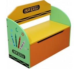 Bancuta pentru depozitare jucarii Green Crayon