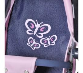 Carucior pentru papusi 3 in 1 Coco Denim Butterfly