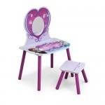 Masuta de frumusete cu scaunel Disney Frozen