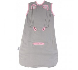 Sac de dormit multifunctional Grey Pink Elephant Travel 0-3 luni 2.5 Tog