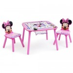 Set masuta multifunctionala si 2 scaunele Disney Minnie Mouse