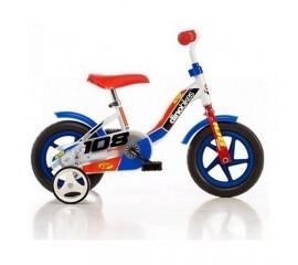 Bicicleta 108 FL rosu cu maner pentru parinti - Dino Bikes