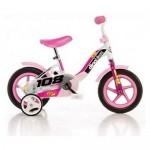 Bicicleta 108 FL roz cu maner pentru parinti - Dino Bikes