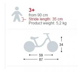 Bicicleta fara pedale 12 inch - Puky 4029