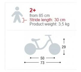 Bicicleta fara pedale - Puky 4055