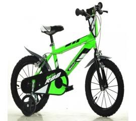 Bicicleta copii MTB 14 inch verde - Dino Bikes