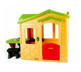 Casuta Picnic la terasa cu acoperis verde - Little Tikes