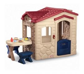 Casuta picnic cu terasa maro - Little Tikes