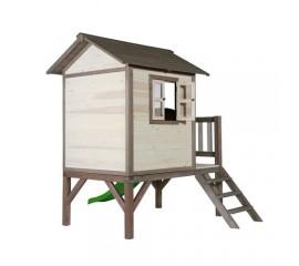 Casuta Lodge XL gri/alb - Casuta de joaca