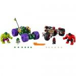 Hulk contra Hulk cel Rosu LEGO Superheroes