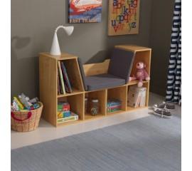 Biblioteca copii cu colt pentru citit Natural - KidKraft