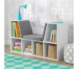 Biblioteca copii cu colt pentru citit White - KidKraft