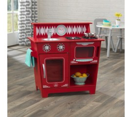 Bucatarie pentru copii KidKraft Classic Kitchenette - Rosu