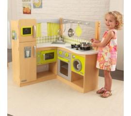 Bucatarie copii de colt Natural Lime - KidKraft