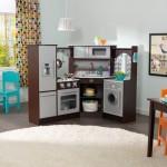 Bucatarie de colt Ultimate Corner Play Kitchen Espresso - KidKraft