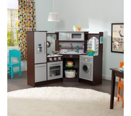Bucatarie de colt Ultimate Corner Play Kitchen Espresso - KidKraft
