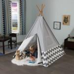 Cort de camera pentru copii Modern Teepee Gray - KidKraft