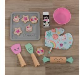 Bucatarie pentru copii cu accesorii Lil' Friends Play Kitchen - KidKraft