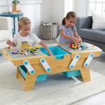 Masa de joaca compatibil LEGO - Building Bricks Play N Store Table
