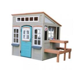 Casuta de joaca Preston Wooden Outdoor Playhouse - KidKraft