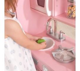 Bucatarie pentru copii Vintage Play Kitchen - Pink - KidKraft