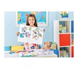 Carte de colorat cu activitati in engleza si abtibilduri 1 - 20