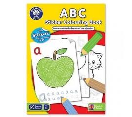 Carte de colorat cu activitati in limba engleza si abtibilduri ABC