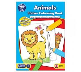 Carte de colorat cu activitati in engleza si abtibilduri Animale