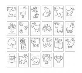 Carte de colorat cu activitati in engleza si abtibilduri Ferma