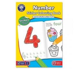 Carte de colorat in limba engleza si abtibilduri Invata numerele