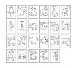 Carte de colorat cu activitati in engleza si abtibilduri Jungla