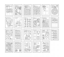 Carte de colorat in limba engleza Mai Multe Lucruri de Facut